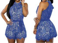 Combinaison short tendance dentelle & ruban 32 AU 40 in Vêtements, accessoires, Femmes: vêtements, Combis: shorts, pantalons | eBay