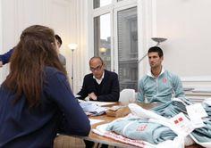 Novak Djokovic, Uniqlo, entrevue, collection sport, affaires sport, Uniqlo France Facebook