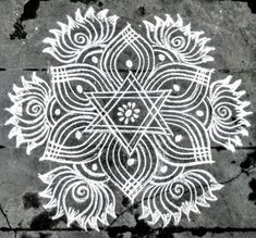 Kolam Indian Rangoli Designs, Simple Rangoli Designs Images, Rangoli Designs Latest, Rangoli Designs Flower, Rangoli Border Designs, Rangoli Patterns, Rangoli Ideas, Rangoli Designs With Dots, Beautiful Rangoli Designs