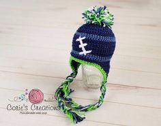 Crochet Seattle Seahawk  Hat - Seattle Seahawks, hat, boy, girl on Etsy, $20.00