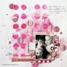 Riikka Kovasin - Paperiliitin: You make me happy - GDT Epiphany Crafts