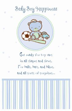Baby Shower Card Message Greeting Cards Images Boy
