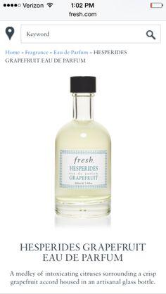 hesperides grapefruit eau de parfum