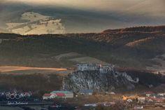 First light at the castle by Ľuboš Balažovič on Another World, One Light, Fairy Tales, My Photos, Castle, Mountains, Painting, Travel, Facebook