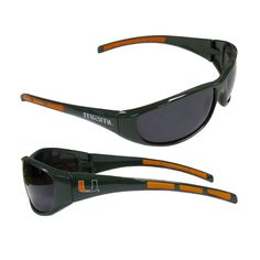 NCAA Miami Hurricanes Sports Sunglasses Case, Orange