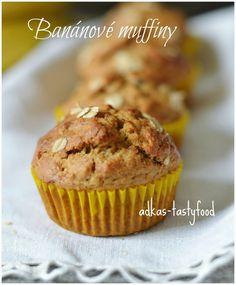 .. chute a vône mojej kuchyne...: Banánové muffiny s ovsenými vločkami Healthy Muffins, Russian Recipes, Sweet Recipes, Ale, Sweets, Cooking, Breakfast, Fitness, Baking Center