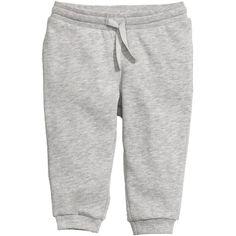 Sweatpants $6.99 (58 NOK) via Polyvore featuring activewear, activewear pants, sweat pants, white sweat pants and white sweatpants