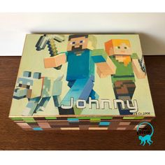 Monkey Decorations, Minecraft Fan Art, Treasure Boxes, Decoupage, Instagram Posts, Painting, Painting Art, Paintings, Painted Canvas