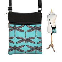 SALE Dragonfly Sling Bag Shoulder Purse door janinekingdesigns