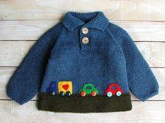 Bebé niños suéter de las lanas  niños suéter tejido a mano