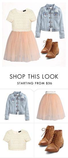 """""""Lace and Tule"""" by glennyfranzen on Polyvore featuring H&M, Chicwish and Saloni"""