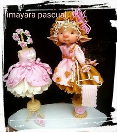 Risultati immagini per Imayara Pascual. Elves And Fairies, Clay Fairies, Flower Fairies, New Dolls, Ooak Dolls, Fairy Figurines, Baby Fairy, Clay Figurine, Polymer Clay Dolls