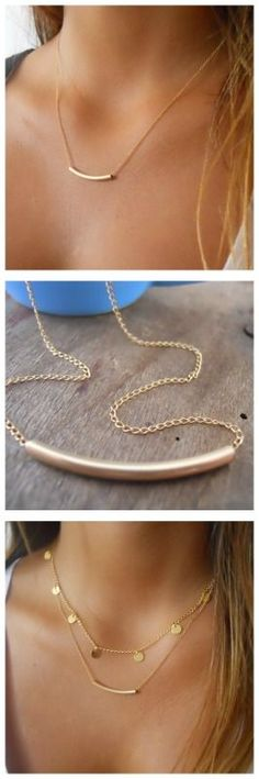 A beautiful, delicate everyday gold filled necklace. Perfect for layering with more necklaces.