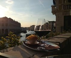 Wine On A Balcony Overlooking The Grand Canal