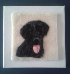 Needle felted Black Lab picture £15.00
