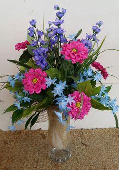 Cemetery Flower Arrangement by GreeneCountyFlorist on Etsy