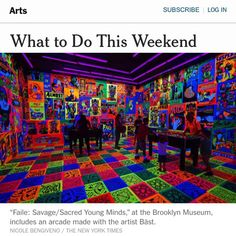 """Thanks to @nytimes for the . Only one more week to see the show @brooklynmuseum closes Oct. 4th... ""I miss the Skee-Ball joints that used to crowd Coney…"""