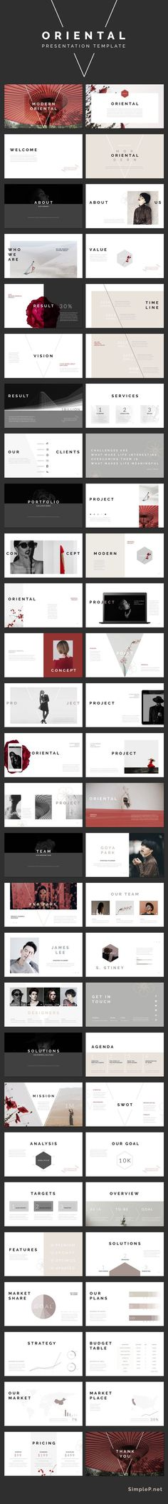 Oriental PowerPoint PPT Presentation Template #ppttemplate #asian #japanese #business #marketing #portfolio