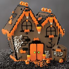 Our No-Bake Haunted House Kit comes with pre-baked gingerbread and decorations for creating a spooky Halloween house. | williams-sonoma.com