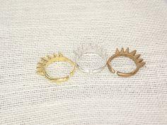 adjustable cast multi spike ring by BellizaKnightJewelry on Etsy