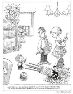 ¿Quién anda ahí?/Quino Comics Story, Picture Story, Humor Grafico, Hilarious, Funny, Cartoon Art, Lol, Memes, Pictures
