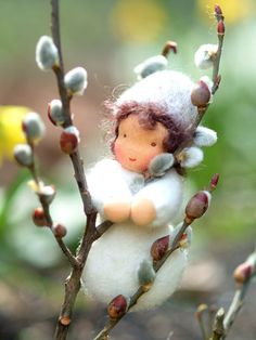 Pussy Willow Fairy - Needle Felted