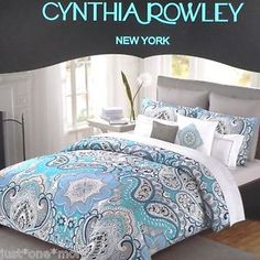 Cynthia Rowley Blue Brown And Comforter Sets On Pinterest