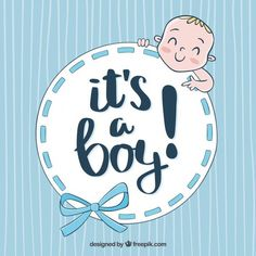 Cute baby boy background in hand drawn style Free Vector