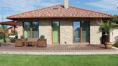 Mogyoród - családi ház Cottage Farmhouse, Diy Garden Decor, Dream Big, Tiny House, Facade, Gazebo, Arch, Exterior, Outdoor Structures