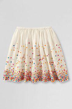 Girls' Falling Dot Woven Skirt from Lands' End