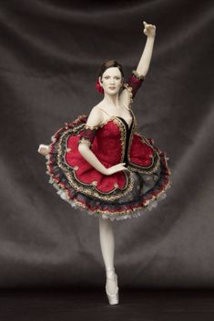 The costume is inspired by a tutu belonging to the Australian ballet. Disney Princess Fashion, Disney Princess Dresses, Ballet Poses, Ballet Tutu, Ballet Dancers, Ballerinas, Red Tutu, Australian Ballet, Indian Dolls