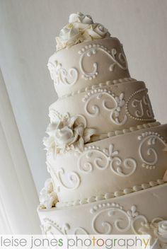 scrolled cake