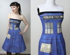 Doctor Who fans will appreciate this one: a TARDIS dress
