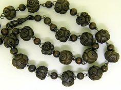 Vulcanite Bead Necklace