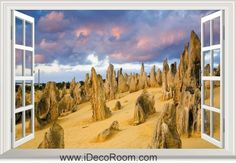 3D National Park Nambung Desert Australia window wall sticker art decal IDCCH-LS-000377