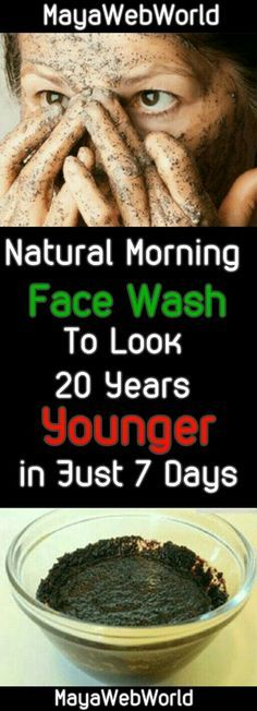 Natural Morning Face Wash To Look 20 Years Younger in Just 7 Days #Skin Care #Beauty