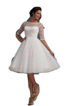 Winey Bridal Short Sexy See Through Bateau Long Sleeves Beach White Wedding Dresses