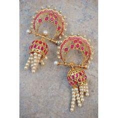 Fancy Ethnic Rani Jhumka Earrings