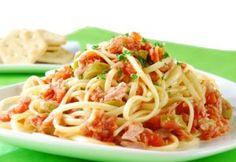 Spaghetti con atún   Receta Ecuatoriana