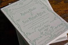 Art Nouveau invitation