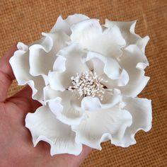 Large Peonies - White