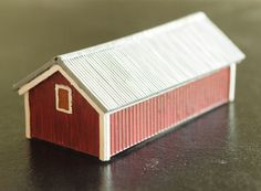 Z scale General Shed with Metal Roof kit in styrene. 1 shed kit. # 010 002 190 004A