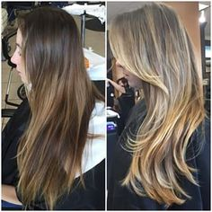 balayage highlights before and after - Google Search