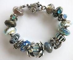 """""""Dramatic Silvers"""" Trollbeads Bracelet design by Tartooful."""