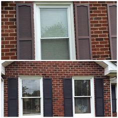 Vinyl shutters vinyls and paintings on pinterest - Best spray paint for exterior shutters ...