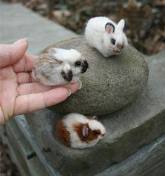 Loppy eared bunnies. Omg...the cuteness....it burns--OOAK Alpaca needle felted on Etsy! $75.00