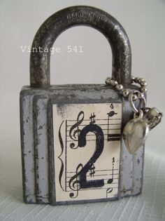 Altered Upcycled Lock
