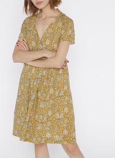 931cdde3566d5 Robe courte imprimée oversize or stella forest - femme