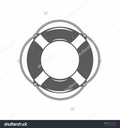 vector illustration of the lifebuoy in black and white in the old-fashioned style and line-art style. Can be used as a tattoo / Black and white vector illustration lifebuoy