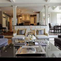kitchen/family room - layout. love this.